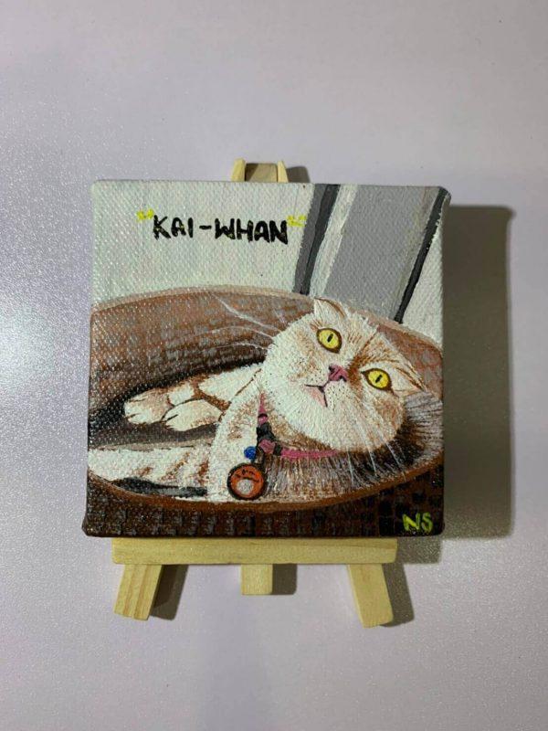 รูปวาดแมวอาร์ตๆ ภาพ kai-whan