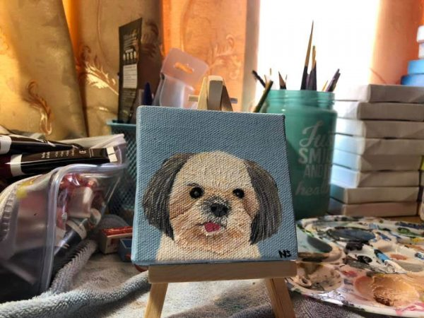 รูปวาดสุนัข Tang